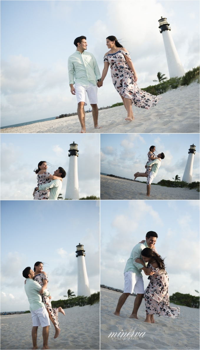 Lighthouse Beach Engagement Photography At Bill Baggs Cape
